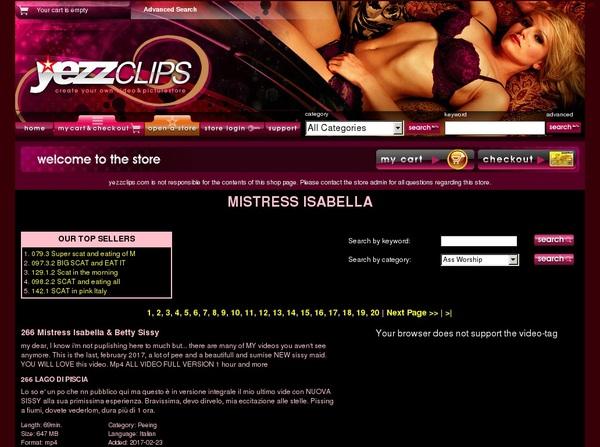 Free Working Yezzclips.com Account